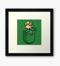 Pocket Link Hero of Time Zelda Framed Print