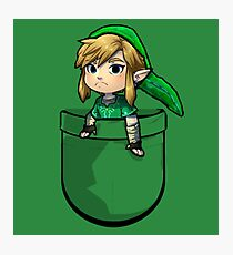 Pocket Link Hero of Time Zelda Photographic Print