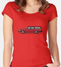 Volvo 245 Brick Wagon 200 Series Red Women's Fitted Scoop T-Shirt