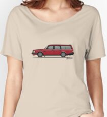 Volvo 245 Brick Wagon 200 Series Red Women's Relaxed Fit T-Shirt