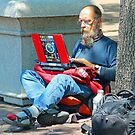 I may be homeless but i still have connections !! by Anthony Goldman