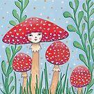 Uncommon Variety - Red Mushroom by Emma Hampton