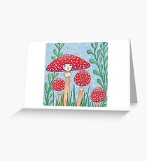 Uncommon Variety - Red Mushroom Greeting Card