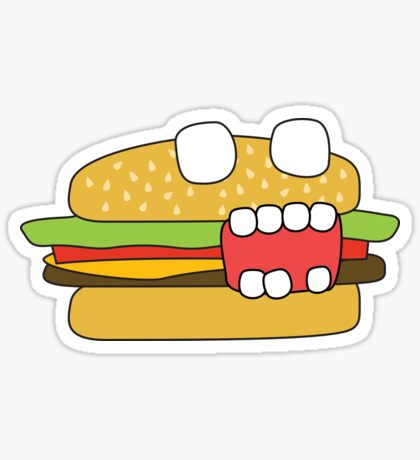 zombie cheeseburger Sticker