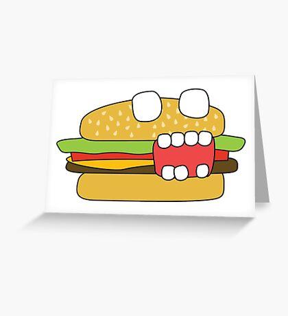 zombie cheeseburger Greeting Card