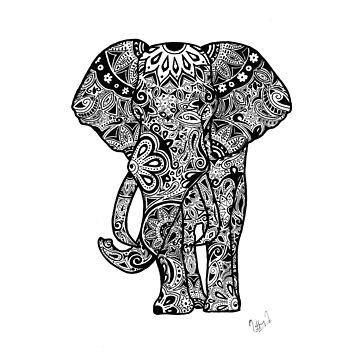 Tribal Elephant by tiffany8433