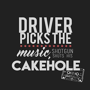 Driver Picks The Music, Shotgun Shuts His Cakehole by spnlockscreenz