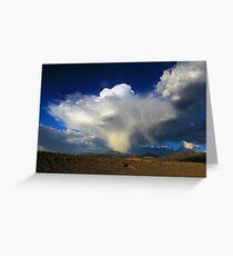 Thunderhead over Becky Peak - Nevada Greeting Card