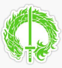 Genji Green Dragon Tag Sticker