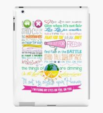 Fix My Eyes Lyrics - For King & Country iPad Case/Skin