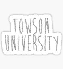 Towson University Sticker