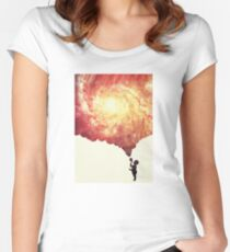 The universe in a soap-bubble! Women's Fitted Scoop T-Shirt