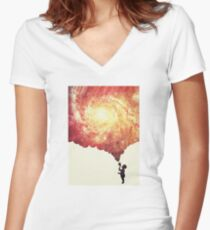 The universe in a soap-bubble! Women's Fitted V-Neck T-Shirt