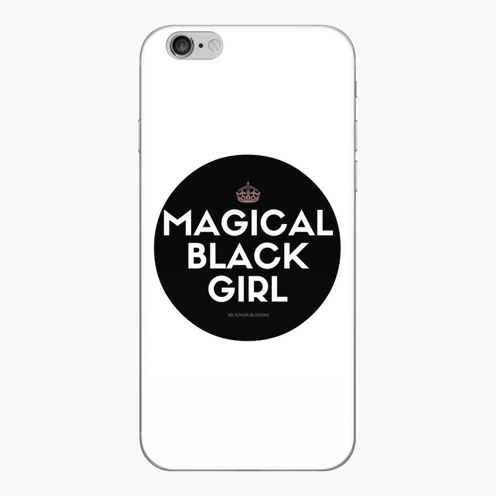 Magisches schwarzes Mädchen iPhone Klebefolie