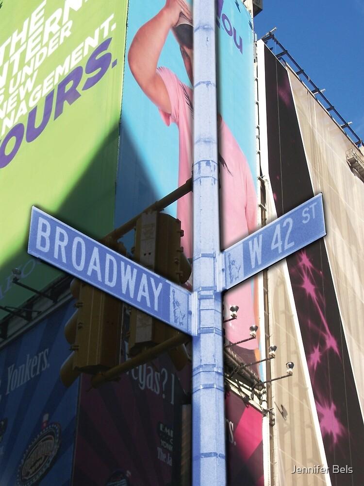 42nd and broadway by Jennifer Bels