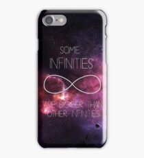 Galaxy-Some Infinities are bigger than other infinities-The fault in our stars iPhone Case/Skin