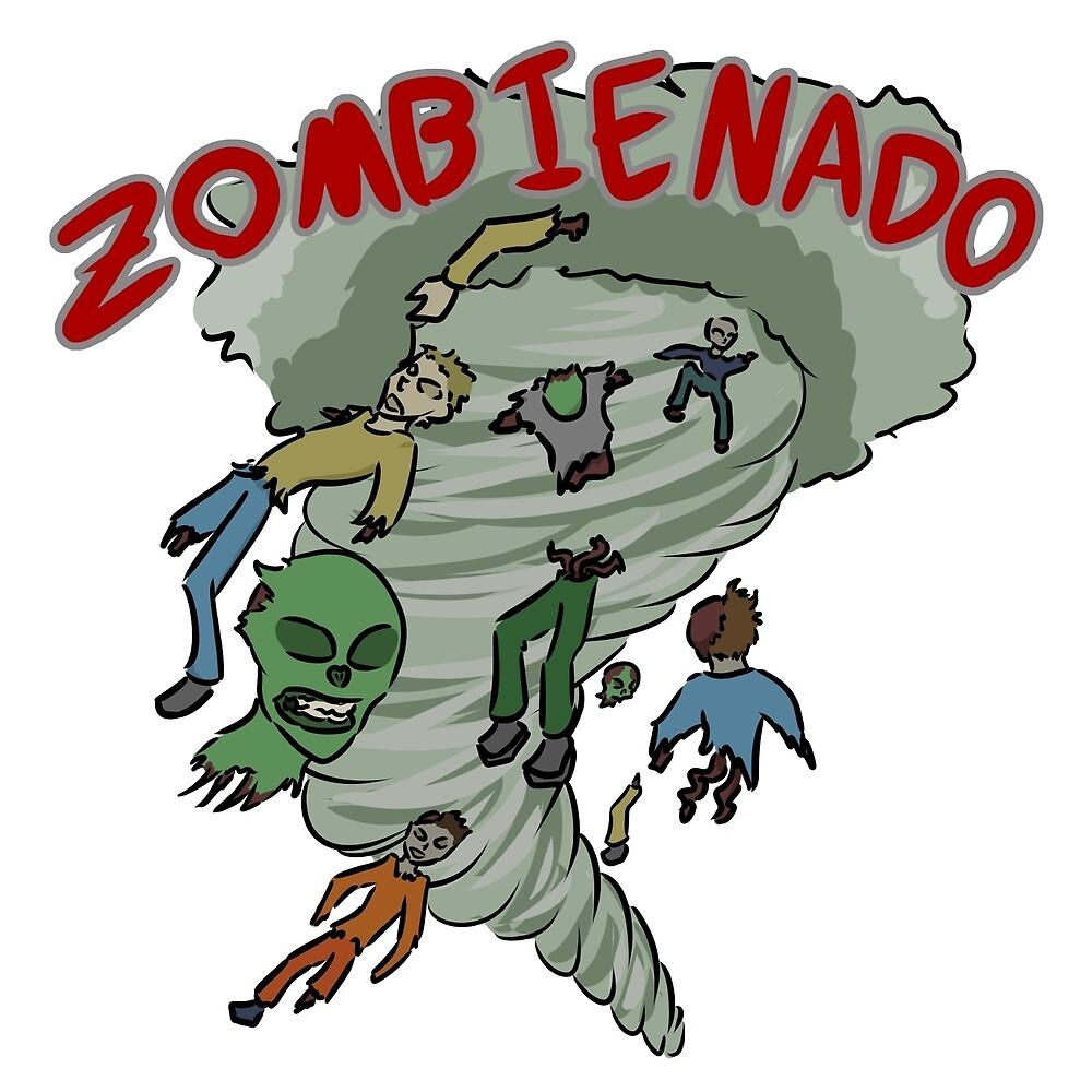 Zombie Tornado - Zombienado by Iainne