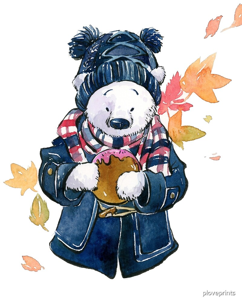 Winter Bear in Autumn by ploveprints