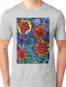 Abstract Colorful Flowers Unisex T-Shirt