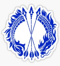 Hanzo Blue Dragon Tag Sticker