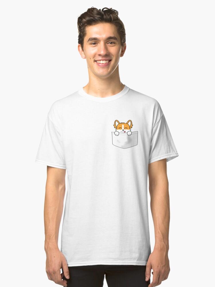Pocket Corgi Classic T-Shirt Front