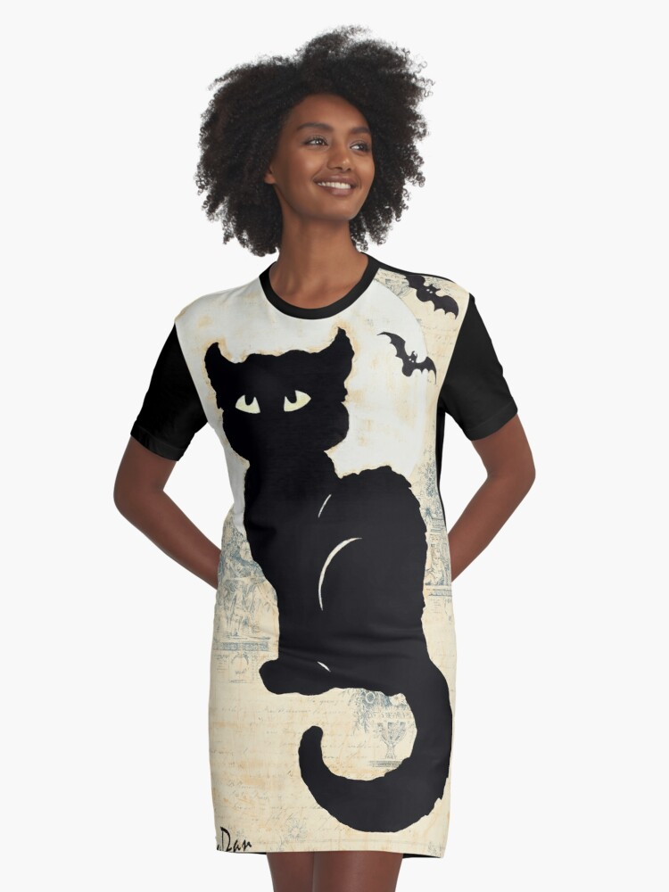Stray Cat Blues Graphic T-Shirt Dress Front
