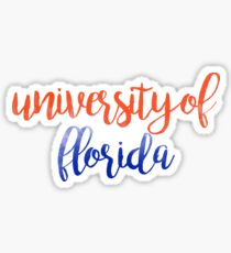 University of Florida Watercolor Sticker