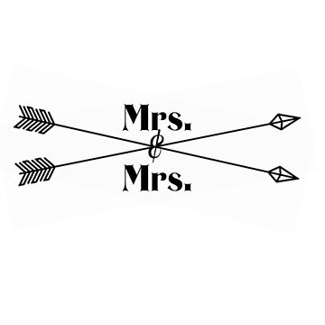 Mrs. Mrs. (black design) by kgraham712