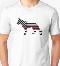 German Shepherd: Thin Red Line Unisex T-Shirt