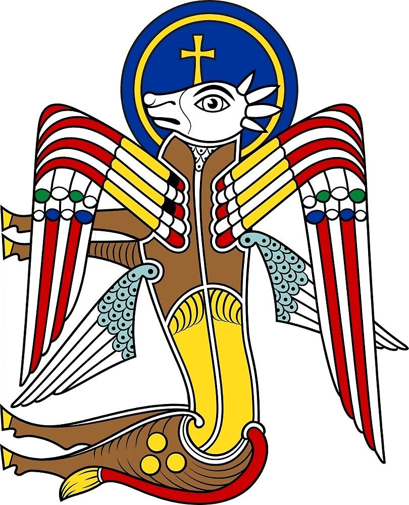 Calf of SAINT LUKE by CatholicSaints