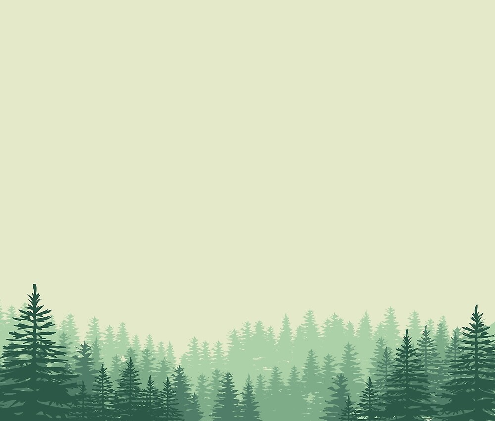 Woods in Fog by florawithlove