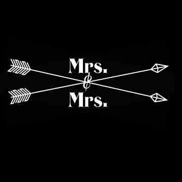 Mrs. & Mrs. (white design) by kgraham712