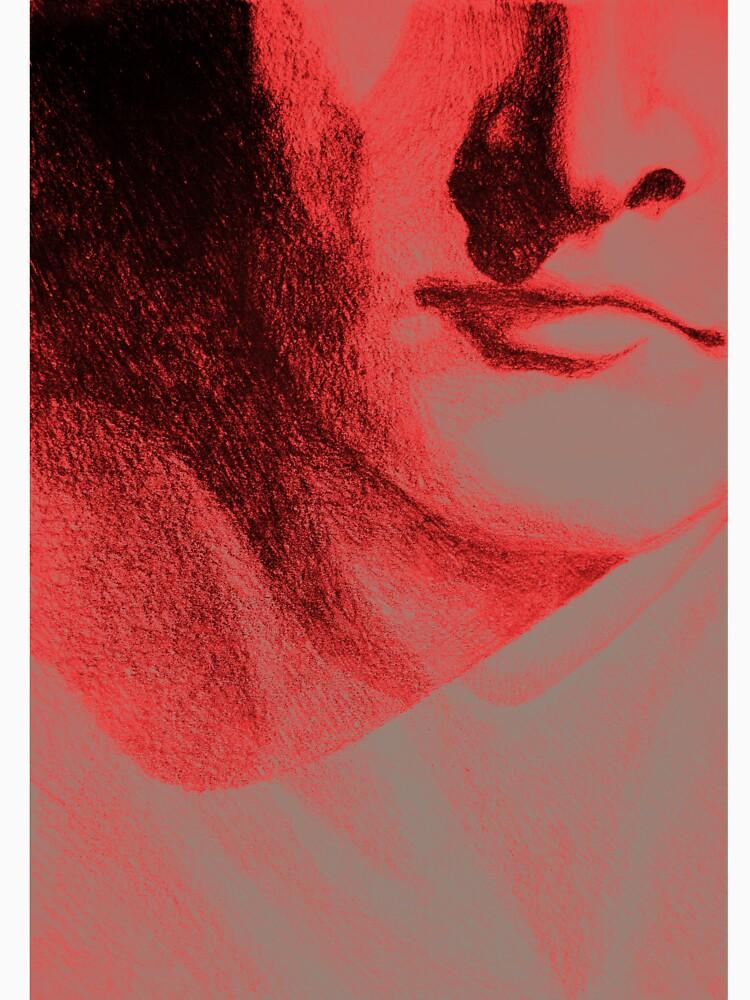 Detail drawing of man face by oanaunciuleanu