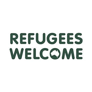 Refugees Welcome Australia (Green) by mbianchi