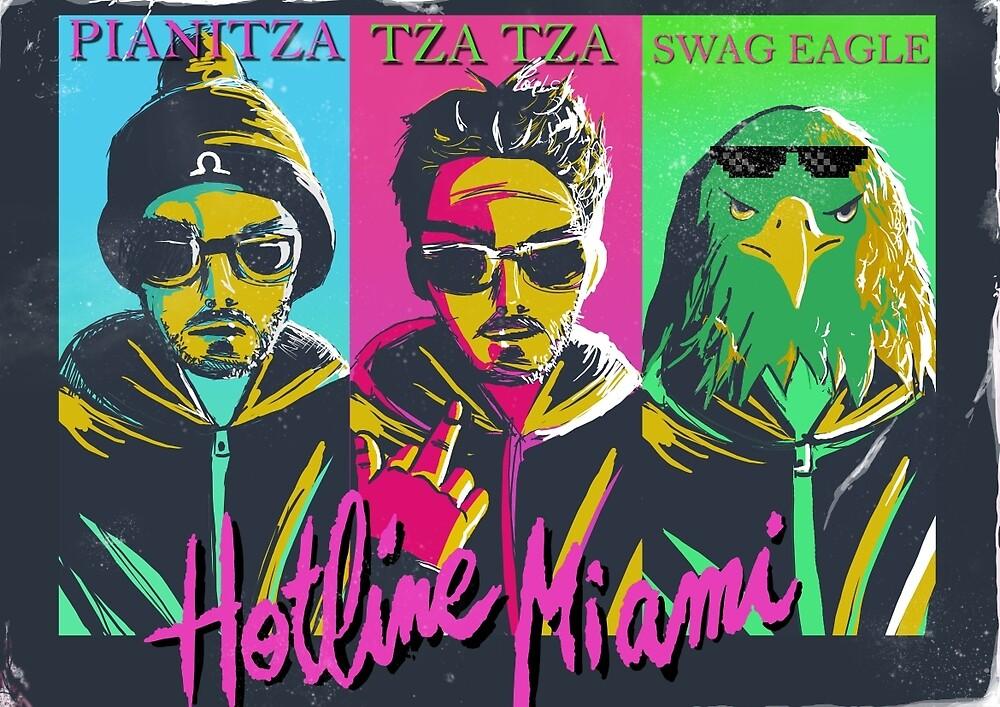 Mr Pianitza, Miami hotline, gotta get a grip by bowakitty
