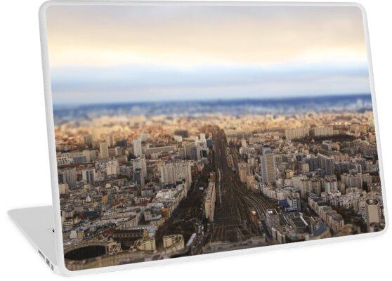 Paris railway and suburban aerial view by snowlynx