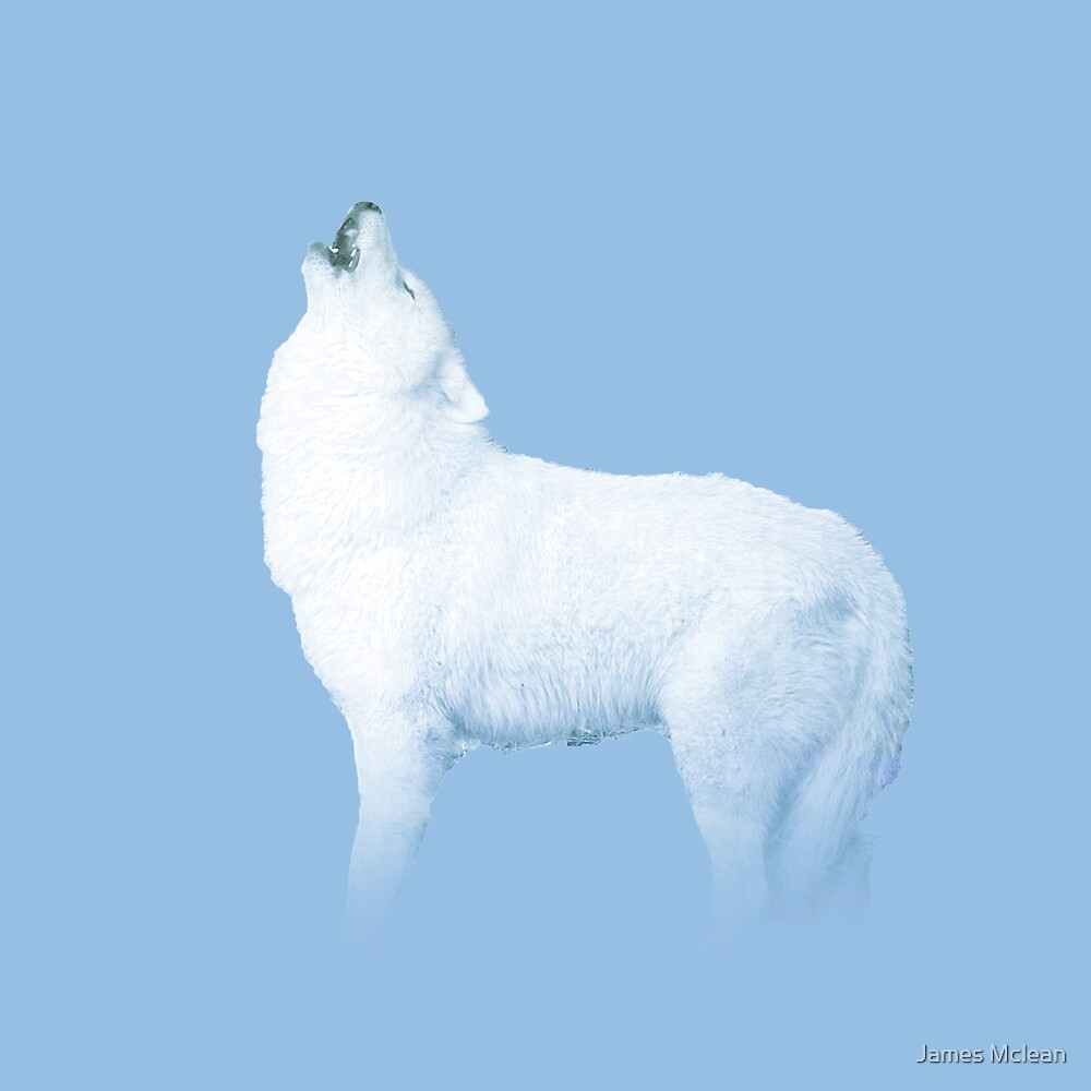 Snow Wolf by James Mclean