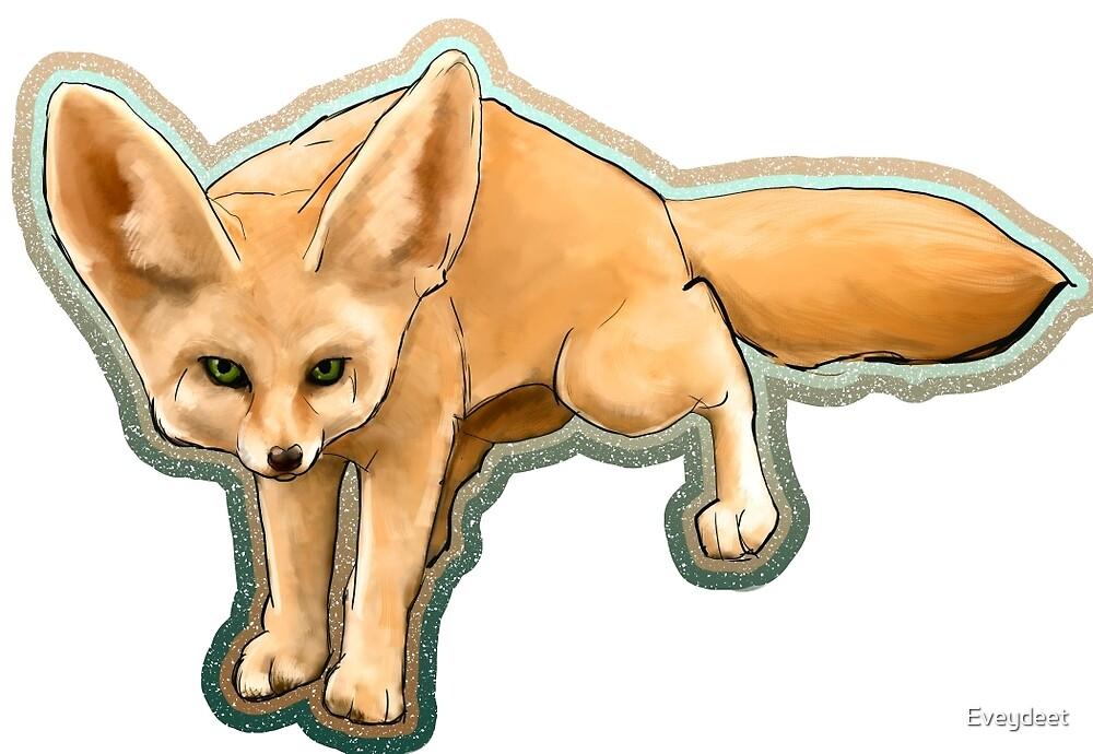 Fennec fox on the hunt by Eveydeet
