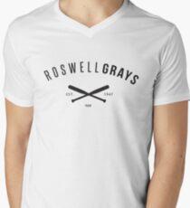 X Files: Roswell Grays Baseball Men's V-Neck T-Shirt