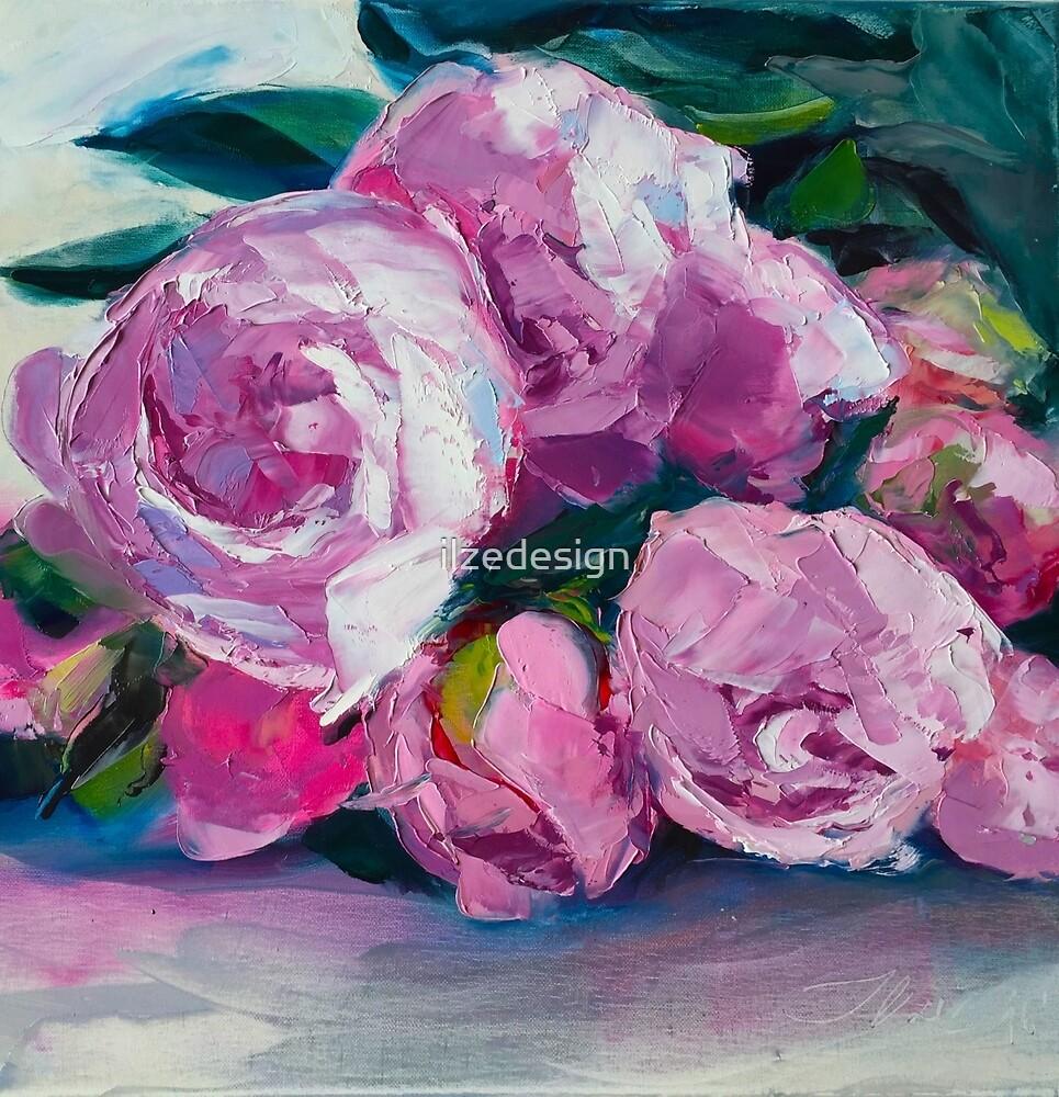 Peonies Bouquet by ilzedesign