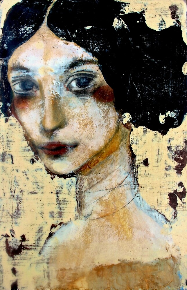 WOMAN WITH BLACK HAIR by Reny Kramer