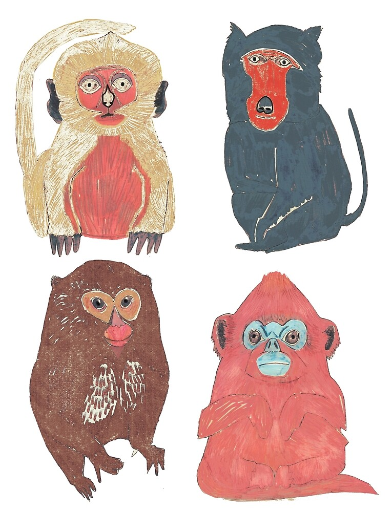 Small Monkey breeds by penwork