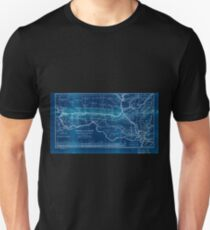 0276 Railroad Maps Map of the Hannibal St Joseph Railroad and its connections published by the American Railway Review New Inverted T-Shirt