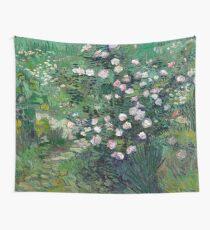 1889-Vincent van Gogh-Roses-33x41,3 Wall Tapestry
