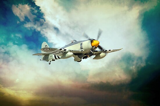 Sea Fury by Airpower Art