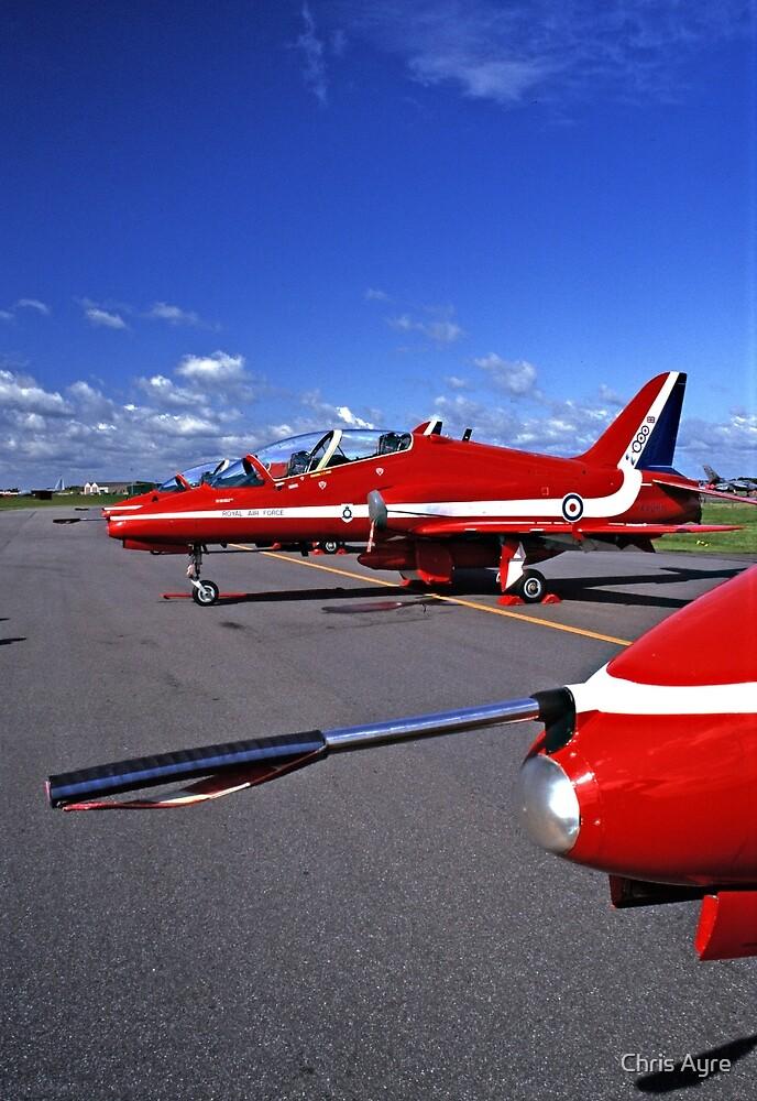 Red Arrows Flightline by Chris Ayre