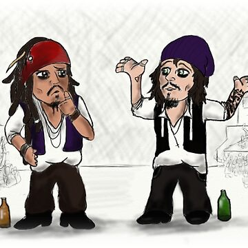 Jack Sparrow vs Ville Valo by PsychoLunatic
