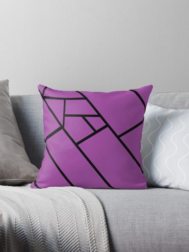 Purple Lines Black by RochelleLee