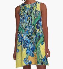 1890-Vincent van Gogh-Irises-73,5x92 A-Line Dress