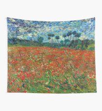 1890-Vincent van Gogh-Poppy field-82,7x102 Wall Tapestry